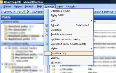 Outlook 2003 nastavení e-mailu